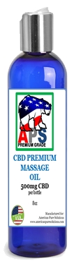 PREMIUM CBD Massage Oil- 500mg CBD