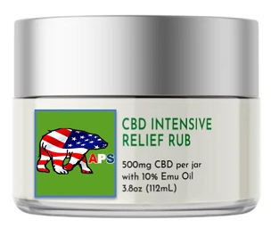 CBD Intensive Relief Rub with Emu Oil 500mg