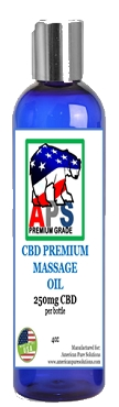 PREMIUM CBD Massage Oil- 250mg CBD