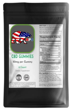 CBD Gummies 50mg 6 ct.