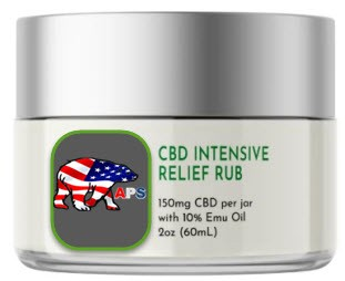 CBD Intensive Relief Rub with Emu Oil 150mg